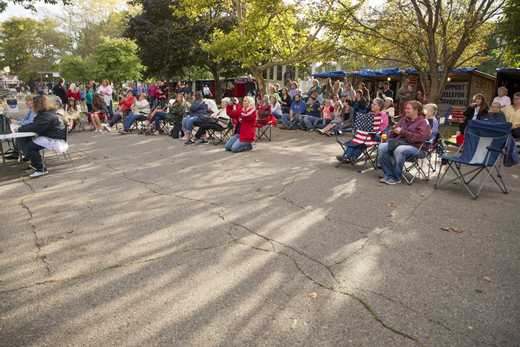 Family members from contestants in the Little Miss Coal Festival Queen Contest and spectators alike watch the paegeant. (Austin Janning/WOUB)
