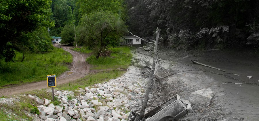 June 2016 flood damage in Clendenin, West Virginia. Property damages exceed $73 million.