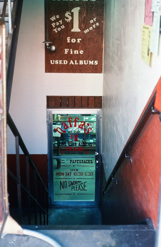 The doorway to Haffa's Records first location in the basement on West Union Street. (Submitted)