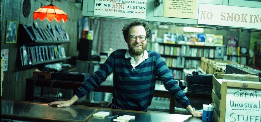 Haffa's Record's first owner, Terry Higgins, behind the store's counter during his time managing the establishment. Haffa's Records will permanently close at the end of September. (Submitted)