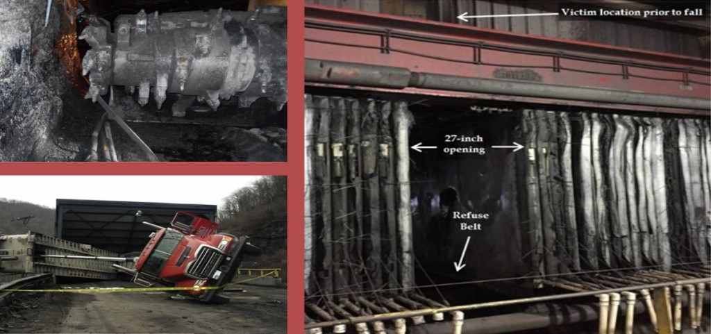 MSHA photographs from fatal mine accident sites. (MSHA)