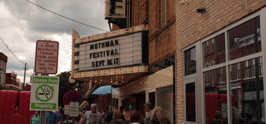 The annual Mothman Festival in Point Pleasant was hopping by the afternoon of Saturday, September 16. (Emily Votaw/WOUB)