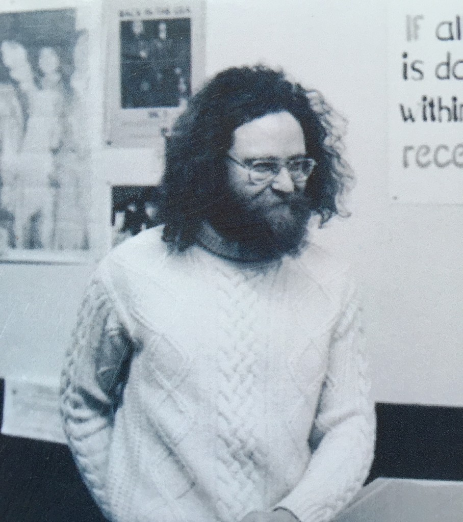 Half's Records' original owner, Terry Higgins, in the earliest days of the store. (Submitted)