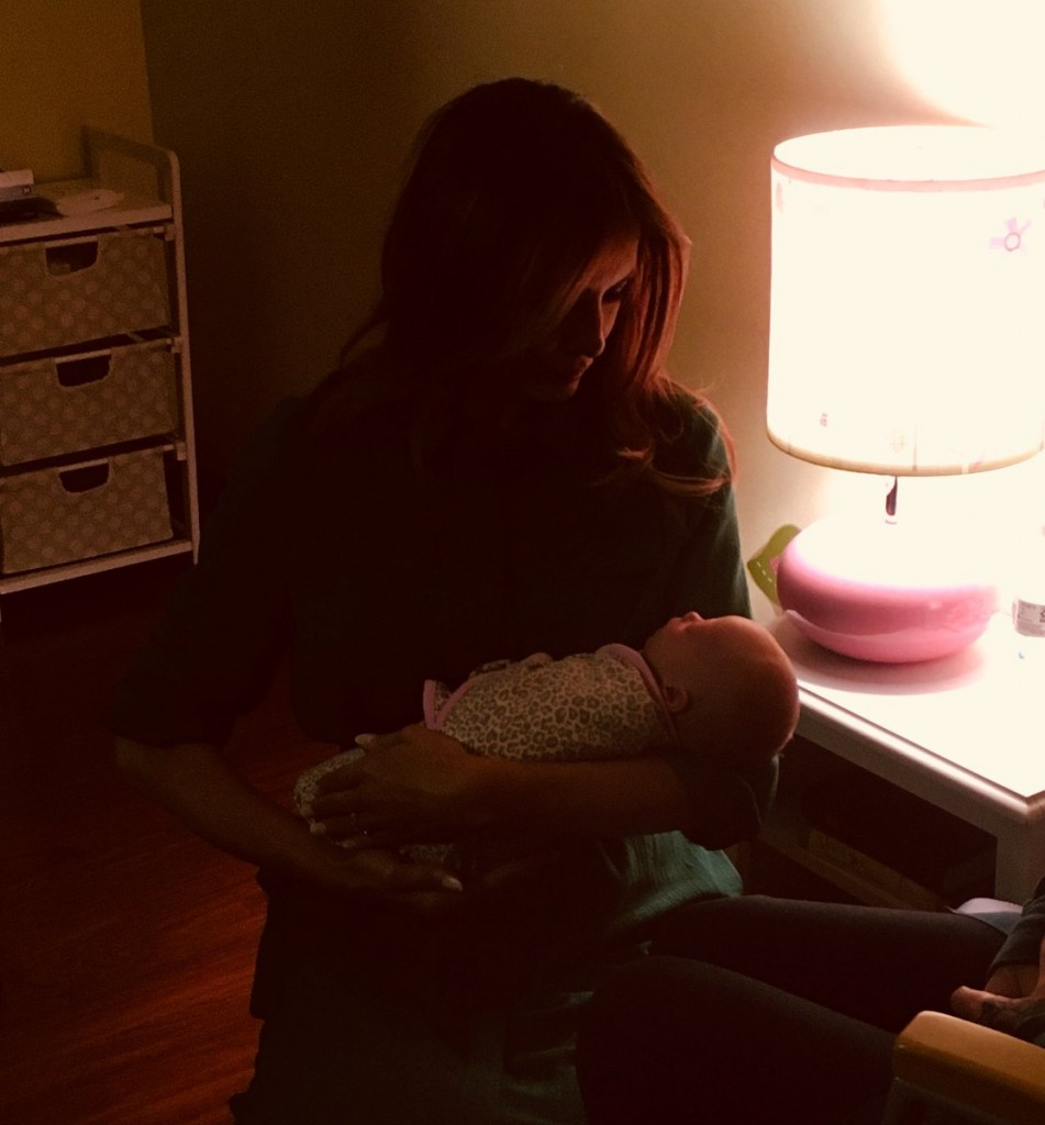 First Lady Melania Trump with an infant born affected by opioids.(Courtesy White House, Office of the First Lady)