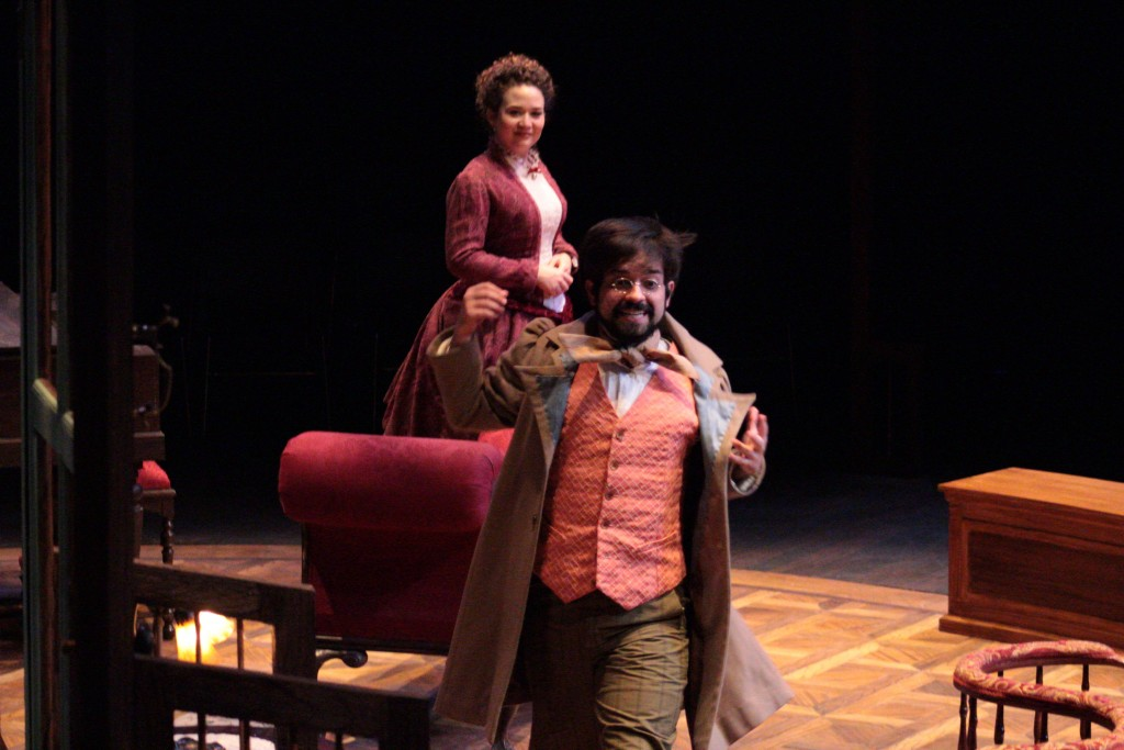 Annie Ganousis (Catherine Givings) with Bruce McGlumphy (Leo). (Lisa Buch/WOUB Public Media)