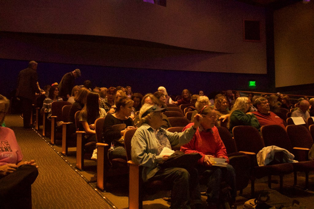 Seats fill up on the Baker University Center's Theater. (WOUB/Emily Votaw)