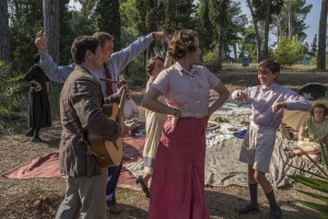 The Durrells in Corfu, Season 2 Sundays, October 15 - November 19, 2017 at 8pm ET On MASTERPIECE on PBS Episode Three Sunday, October 29, 2017 at 8pm ET A birthday party for Louisa gets her brooding about her age. Leslie takes up fashion photography. Gerry wears out another tutor. Vasilia offers Louisa a diabolical deal. Pictures Shows: Lugaretzia (ANNA SAVVA), Sprios (ALEXIS GEORGOULIS), Hugh (DANIEL LAPAINE), Florence (LUCY BLACK), Louisa (KEELEY HAWES), Gerry (MILO PARKER) and Margo (DAISY WATERSTONE) For editorial use only. Courtesy of of John Rogers/Sid Gentle Films for ITV and MASTERPIECE