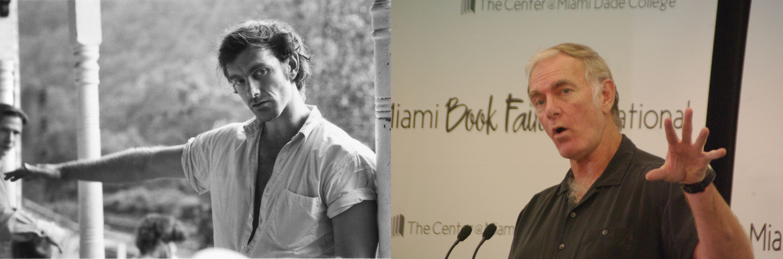 "Left: Jonathan Sayles, director, on the ""Matewan"" set in 1987; Right: Sayles at the Miami Book Fair International in 2011. (Matewan film promo; Rodrigo Fernández, wikipedia)"