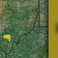 Vinton County on a map