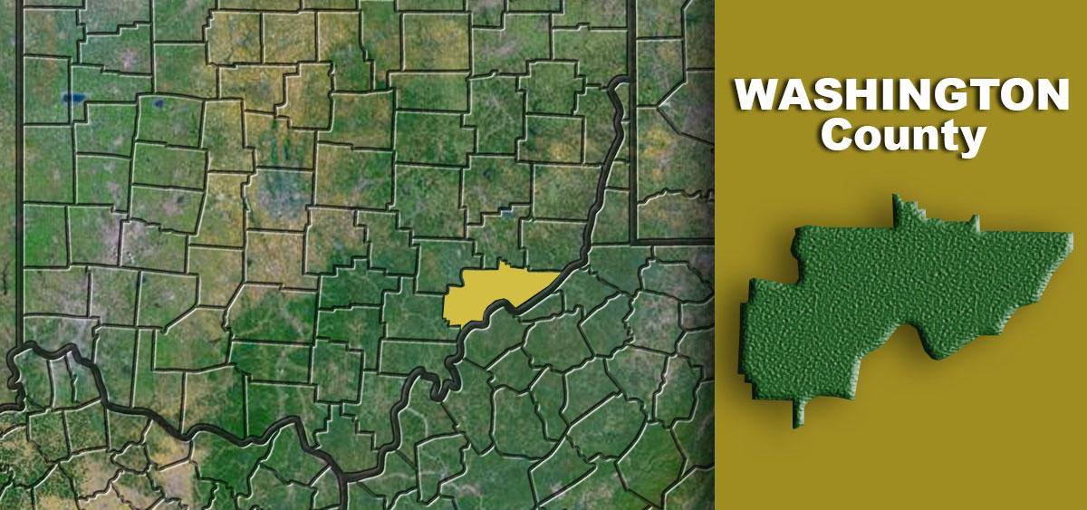 Washington County on a map