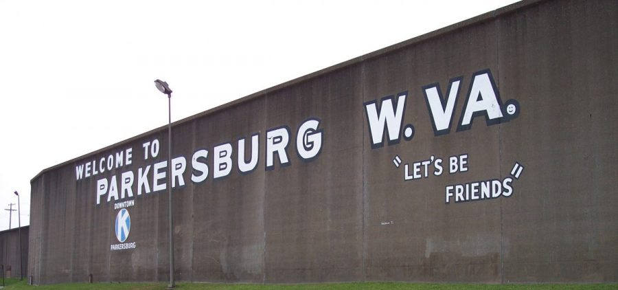 The Parkersburg flood wall