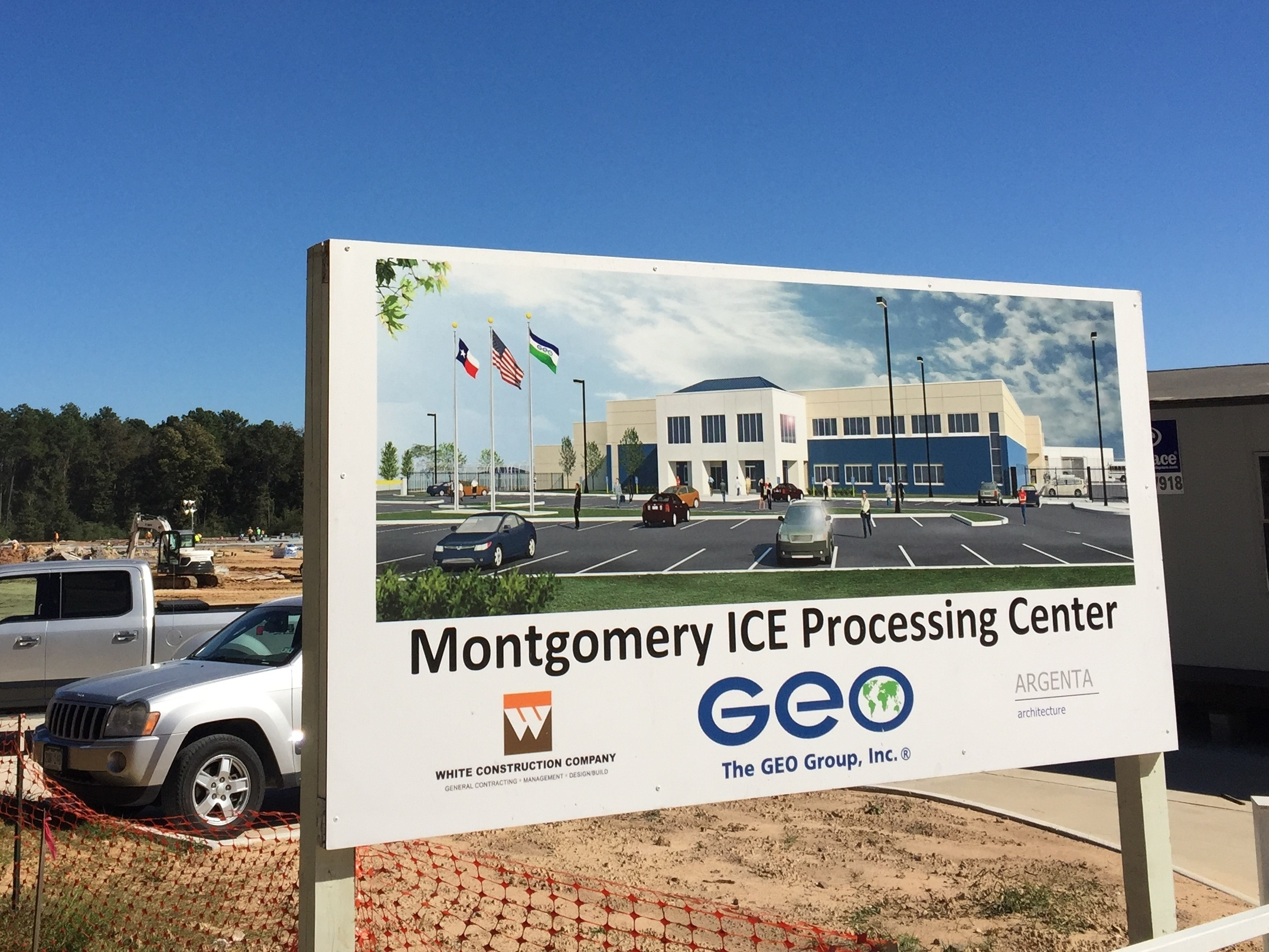 A new Immigration and Customs Enforcement detention facility on this site in Conroe, Texas, will house up to 1,000 immigrants at a cost of $44 million a year to U.S. taxpayers.