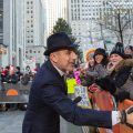 "Longtime ""Today"" host Matt Lauer greets people in the crowd on Monday. He is the latest high-profile media figure to be accused of sexual misconduct."