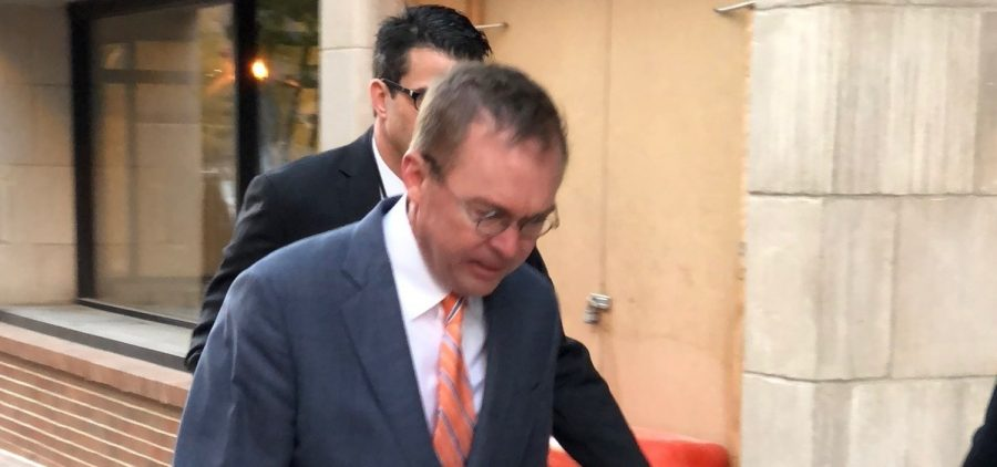 Budget director Mick Mulvaney arrived at the CFPB on Monday morning, donuts in hand.