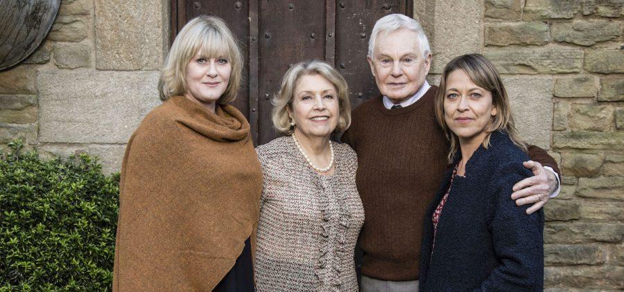 Last Tango in Halifax stars Picture Shows: Caroline (SARAH LANCASHIRE), Celia (ANNE REID), Alan (DEREK JACOBI), Gillian (NICOLA WALKER)