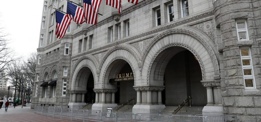 A judge has dismissed a lawsuit maintaining that President Trump benefited from foreign patrons at his hotels in violation of the Constitution.