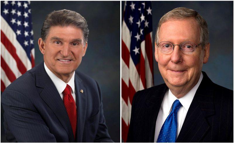 Sen. Joe Manchin (D-WV) and Majority Leader Sen. Mitch McConnell (R-KY).