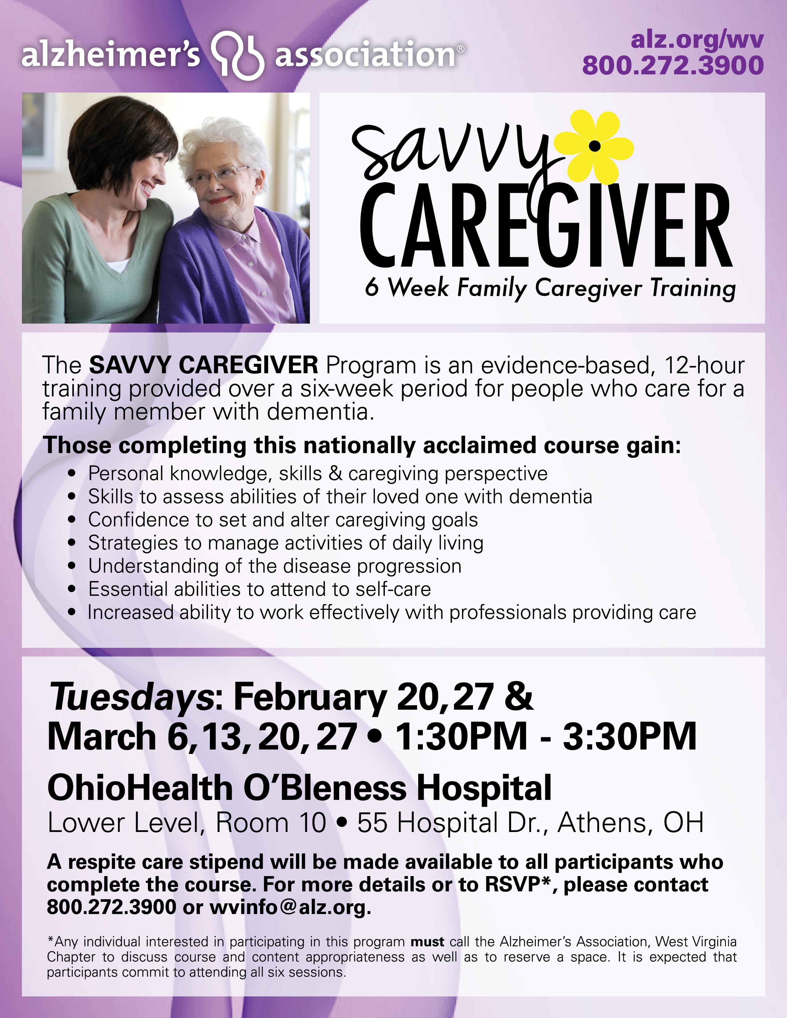Savvy Caregiver Program - WOUB Public Media