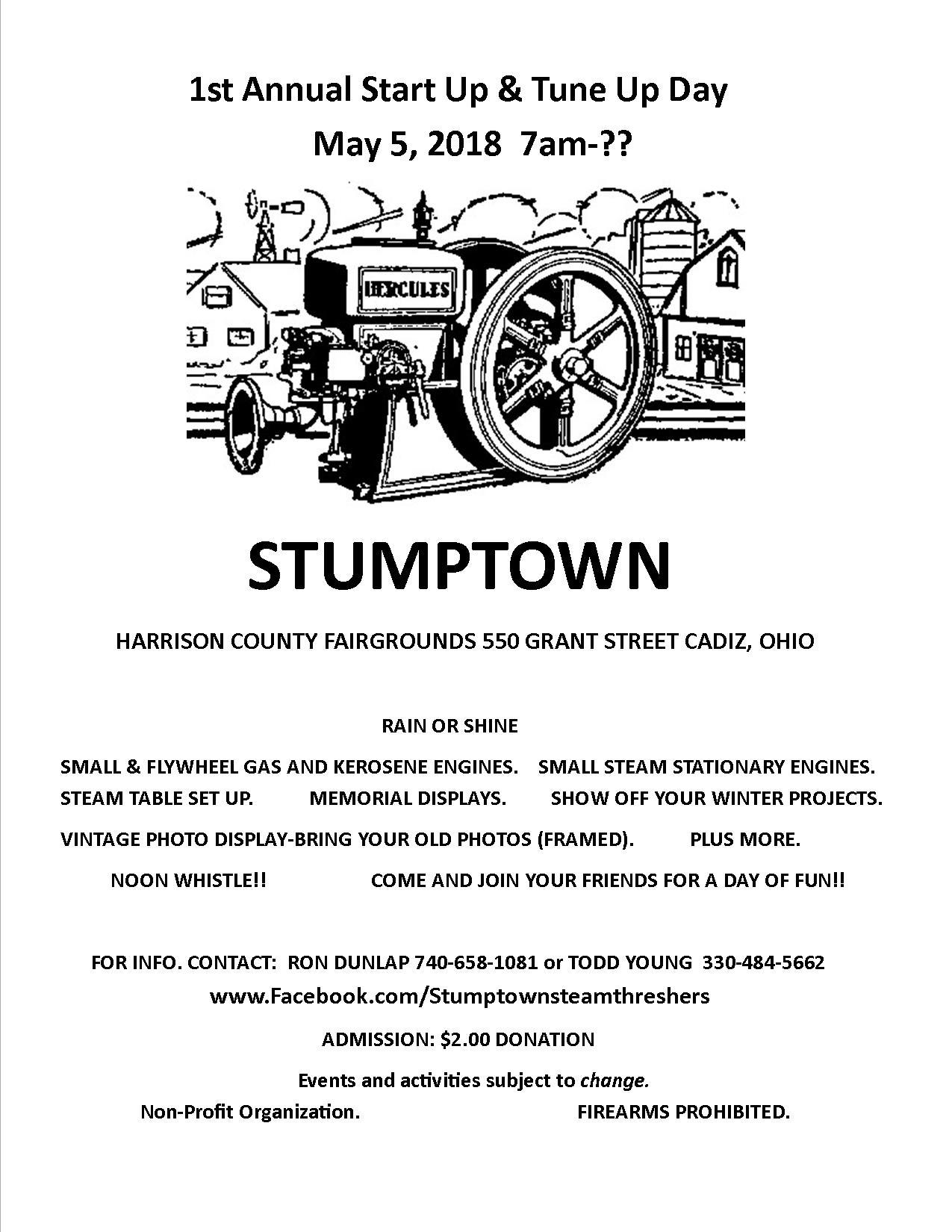 1st Annual Stumptown Steam Threshers Club Start Up & Tune Up
