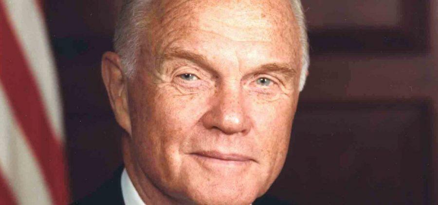 Official U.S. Senate portrait of John Glenn, 1990s.