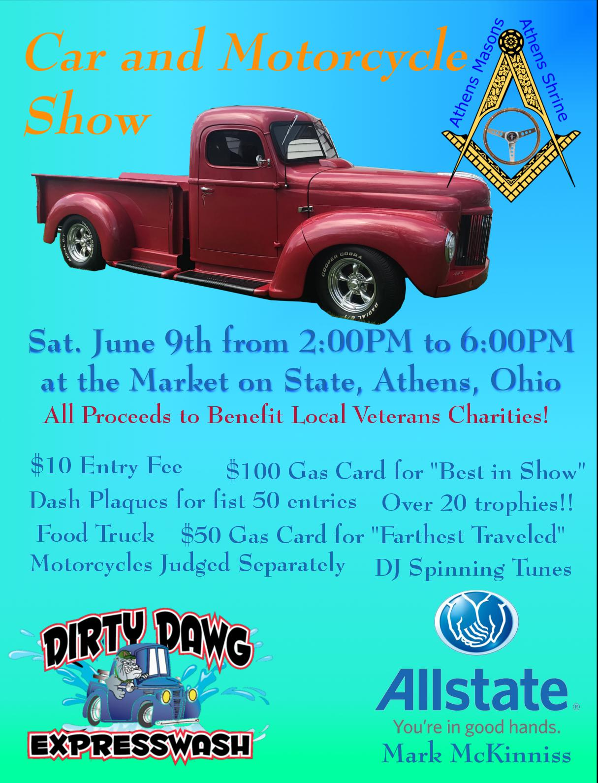 Car Motorcycle Show To Benefit Local Veterans Charities WOUB Digital - Homemade car show trophies
