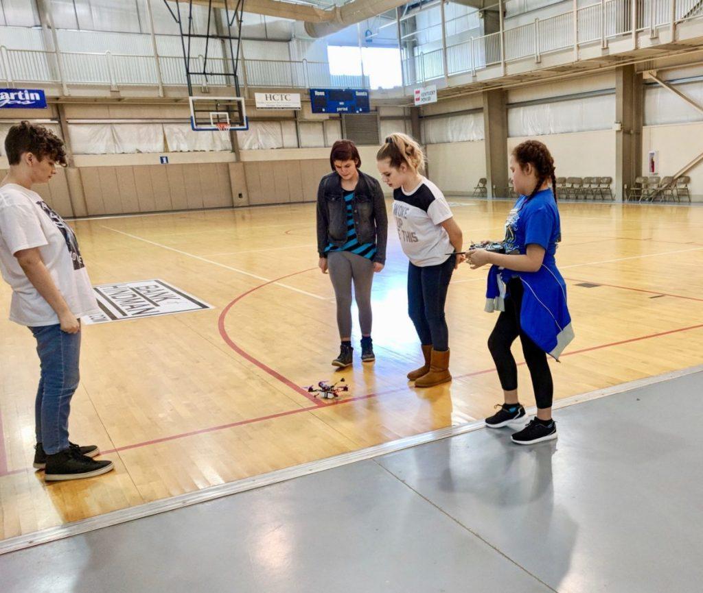 South Floyd team testing drone