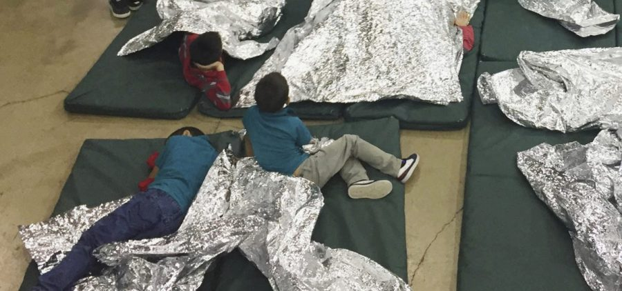 A photo provided by U.S. Customs and Border Protection shows the interior of a CBP facility in McAllen, Texas, on Sunday. Immigration officials have separated thousands of families who crossed the border illegally.