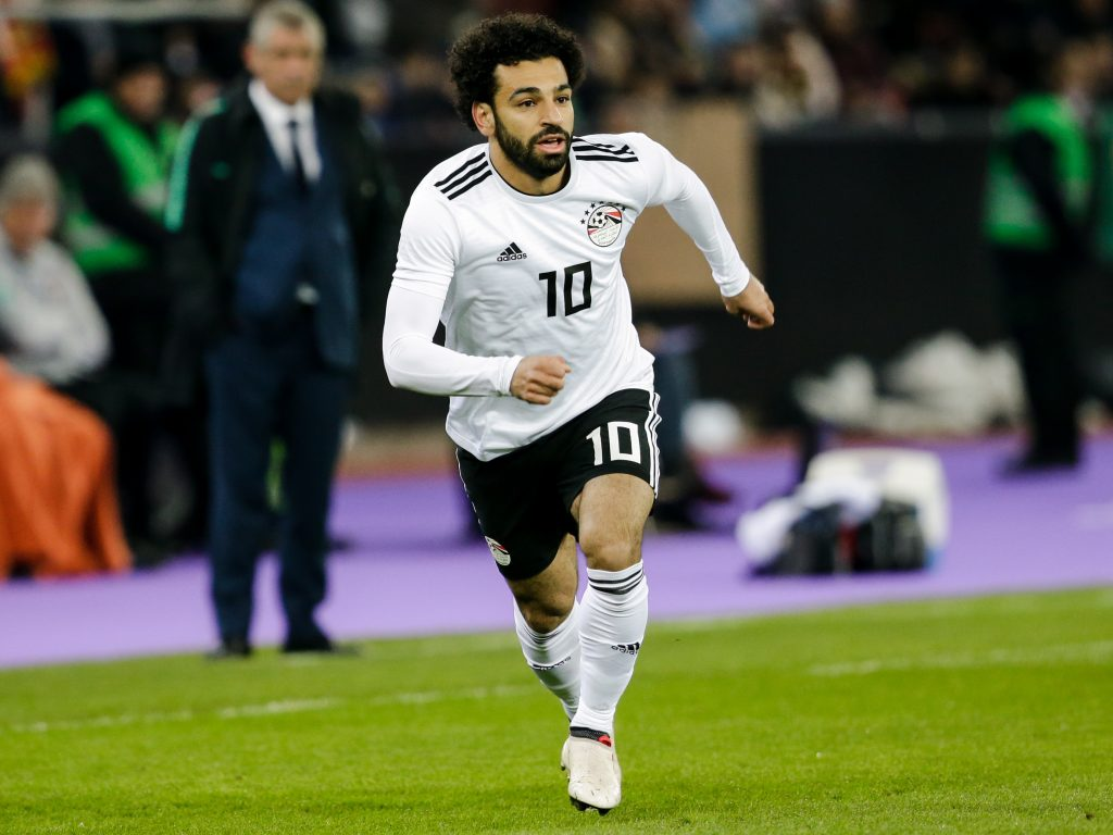 Mohamed Salah of Egypt during a friendly match against Portugal in March.