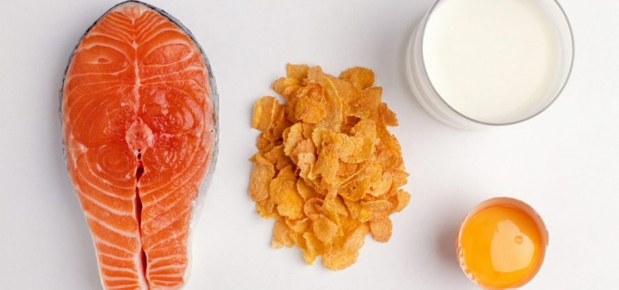 A serving of salmon contains about 600 IU of vitamin D, researchers say, and a cup of fortified milk around 100 IU. Cereals and juices are sometimes fortified, too. Check the labels, researchers say, and aim for 600 IU daily, or 800 if you're older than 70.