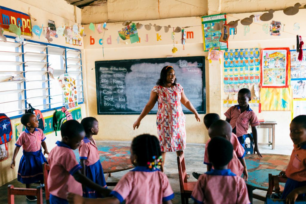 """Godaiva Gbetodeme has been teaching preschool for more than 20 years: """"I realized that's what God has planned for me,"""" she says."""