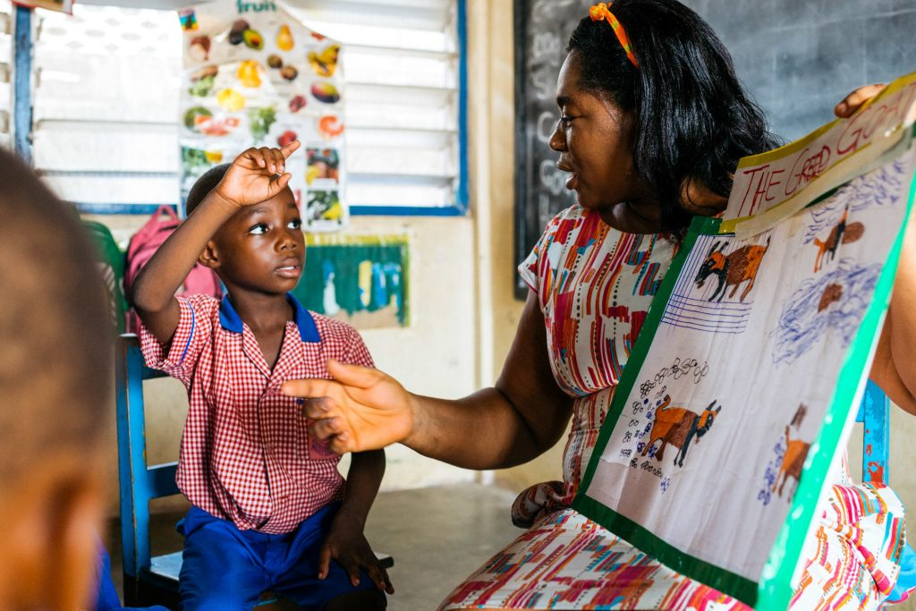 """Godaiva Gbetodeme used to think a teacher needs to be an authority figure who commands respect — if necessary, by """"knocking"""" kids in the head. Now she has a new philosophy: """"As a teacher I should be approachable. I should be their friend."""""""