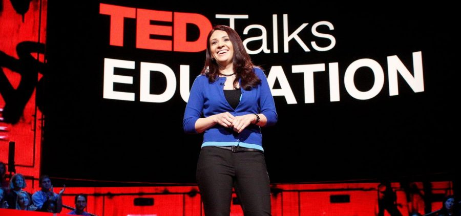 Pearl Arredondo on the TED stage.