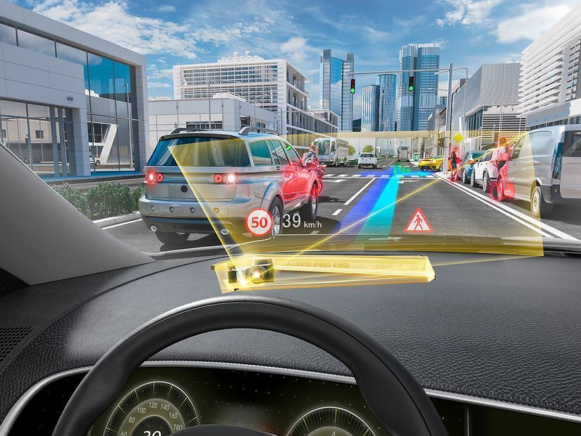 DigiLens is working on a new kind of head-up display for cars that would turn a driver's windshield into a screen. The idea is to make the images appear as if they're in the real world.
