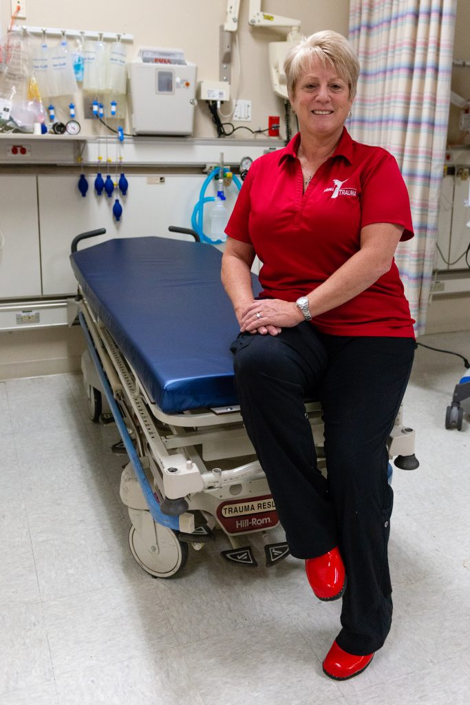 Nursing supervisor Antoinette Mullan recalls dead bodies being wheeled in on gurneys across the triage floor and a trauma bay full of victims after a gunman fired into a crowd of 22,000 people at the country music festival in Las Vegas.