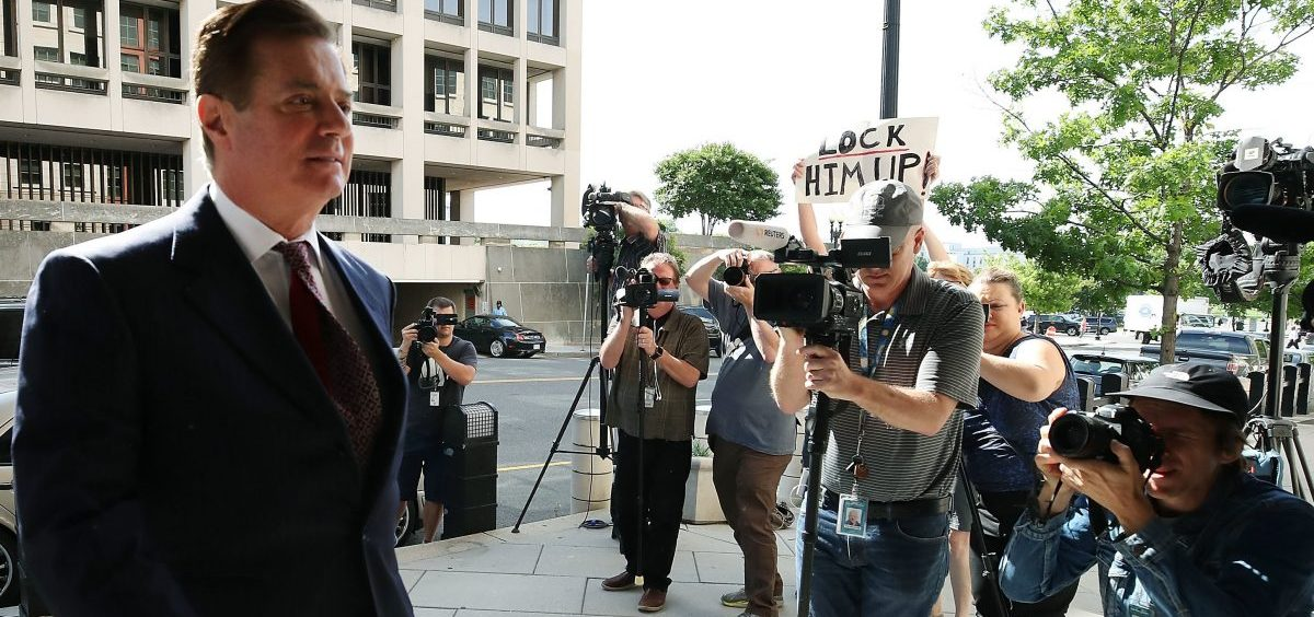 Former Trump campaign chairman Paul Manafort arrives at the federal courthouse in Washington, D.C., for a hearing on June 15.