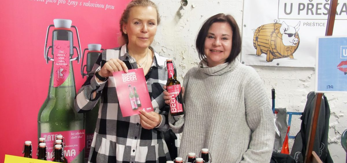 "Jana Krocakova and Petra Plankova of Mamma HELP show off their new brew aimed at helping breast cancer patients undergoing chemo to ""feel normal"" and overcome their impaired sense of taste."