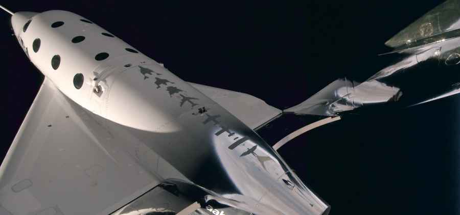 Virgin Galactic designed the VSS Unity to carry two pilots and six passengers into space to experience a few minutes of weightlessness.