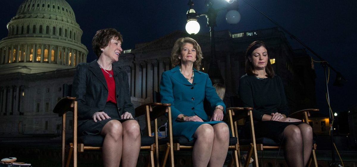 Republican Senators Susan Collins of Maine, Lisa Murkowski of Alaska, and Kelly Ayotte of New Hampshire were among the women who got credit for reaching across the aisle to end the 2013 government shutdown.