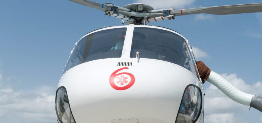 Air Methods' helicopter in Pocola, Okla. The company owns five other Oklahoma bases under the Tulsa Life Flight brand that it bought in 2009.