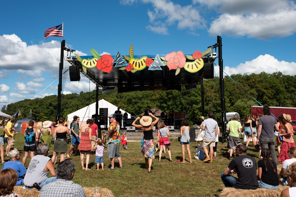 Freekbass plays on the main stage at Pawpaw Festival on Saturday, September 15, 2018. (Nickolas Oatley/WOUB)