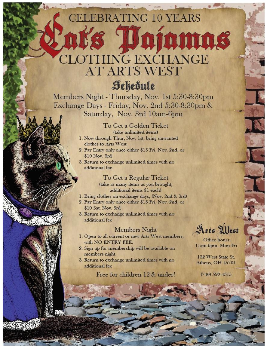 13c29f5b79 Cat s Pajamas Clothing Exchange - Nov 1st - 3rd - WOUB Digital