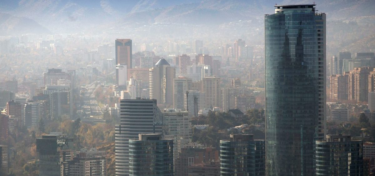 Smog blankets Santiago, Chile, in June. A U.N. report warns that  even a 1.5-degree C increase in global temperatures will cause serious changes to weather, sea levels, agriculture and natural eco-systems.