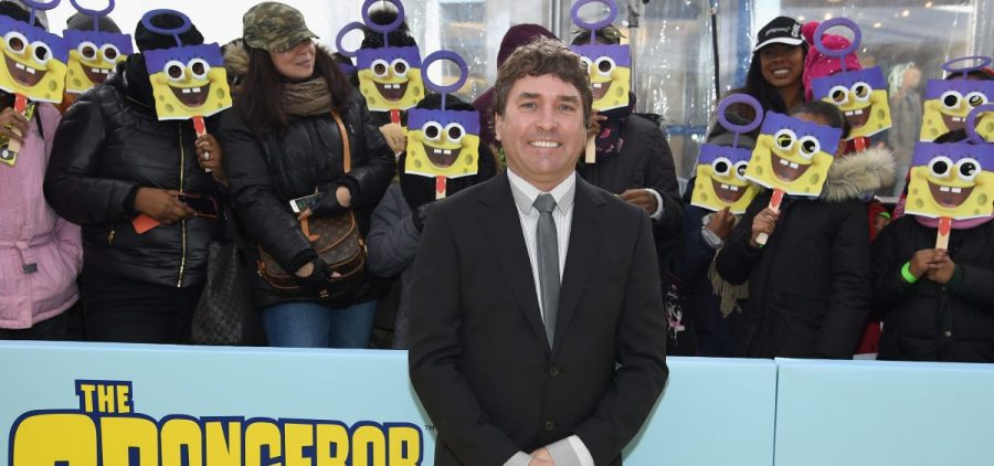 "SpongeBob SquarePants creator Stephen Hillenburg, shown here at the 2015 world premiere of ""The SpongeBob Movie: Sponge Out Of Water,"" has died at 57."