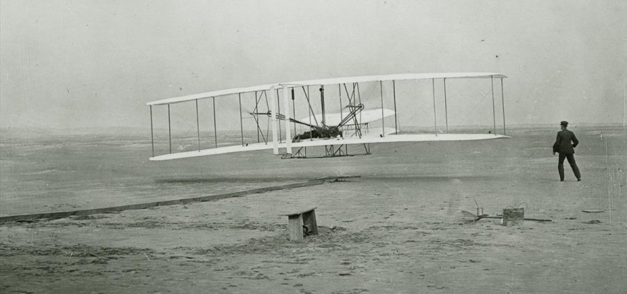 The Wright Brother's historic flight