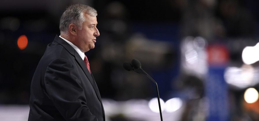 In this July 18, 2016 file photo, Speaker of the Ohio House Larry Householder speaks during the opening day of the Republican National Convention in Cleveland.