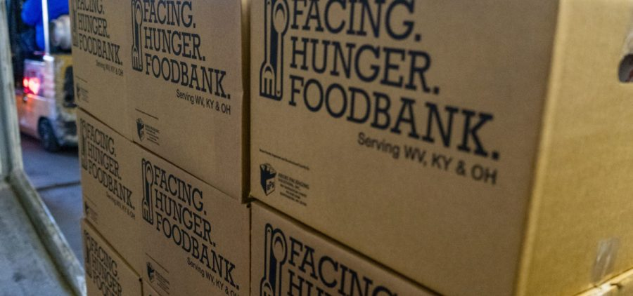 A warehouse in the Facing Hunger food bank in Huntington, WV.