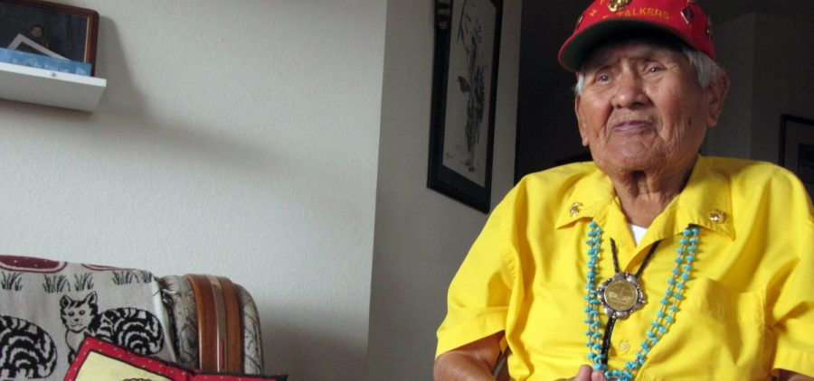 Chester Nez, one of 29 Navajo Code Talkers whose language skills thwarted the Japanese military in World War II, is shown in a November 2009 photo. Nez died on Wednesday.