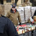A TSA employee visits a Baltimore food pantry for government workers affected by the federal shutdown.
