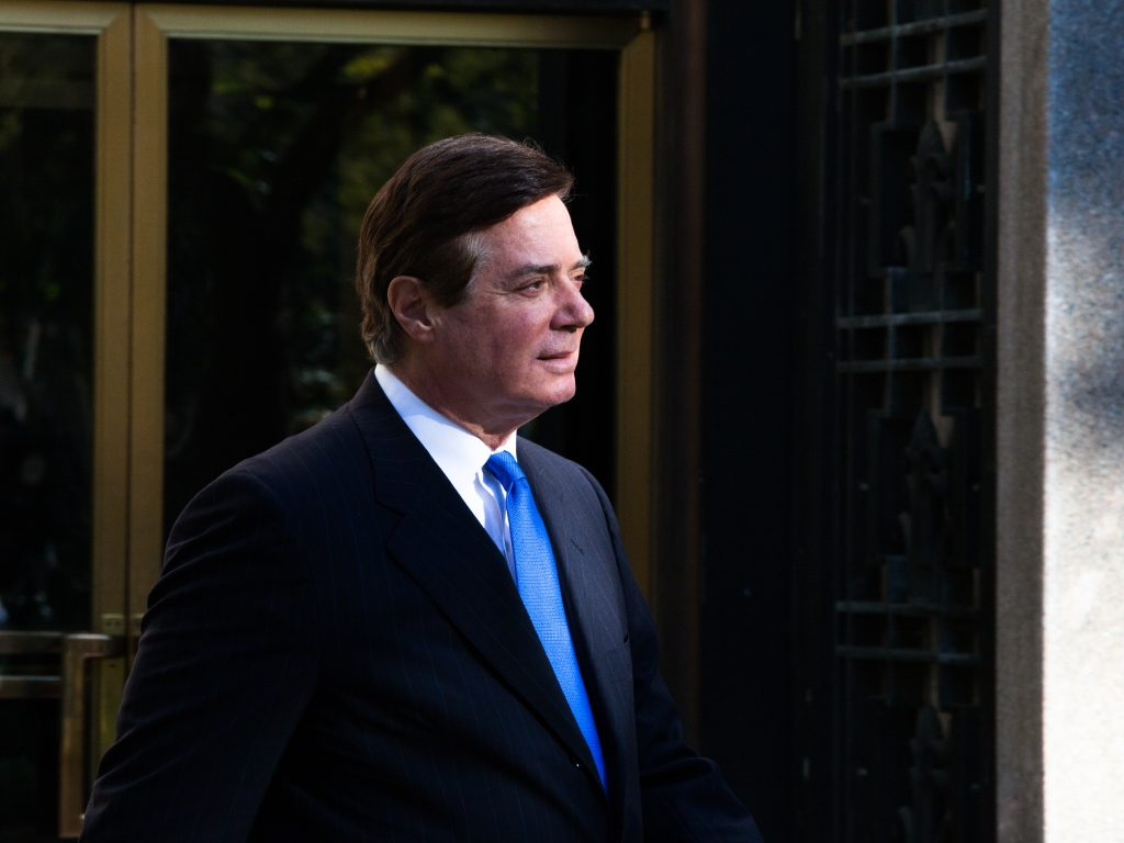 Former Trump campaign chairman Paul Manafort leaves federal court in Washington, D.C. on Oct. 30, 2017.
