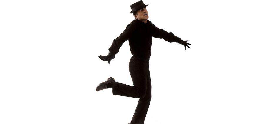 "Sammy Davis, Jr. floats on air in a photo from the documentary Sammy Davis, Jr.: I've Gotta Be Me."""